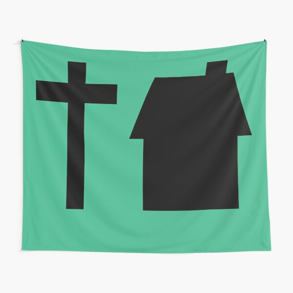 Tyson House Logo - Black Tapestry