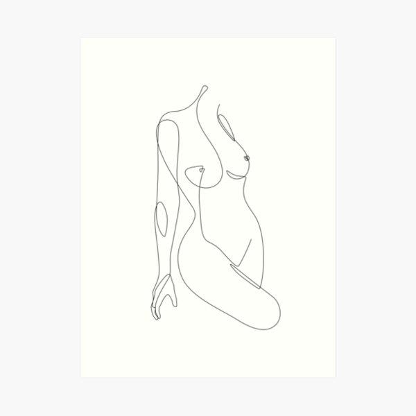 Single Nude Art Print