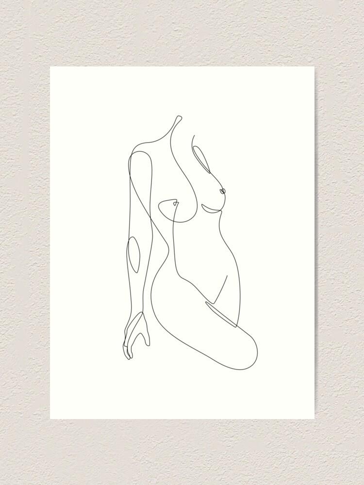 Alternate view of Single Nude Art Print