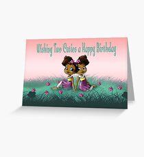"""Wishing Two Cuties a Happy B-day"" Card (blank inside) Greeting Card"