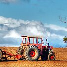 The Red Tractor by Eve Parry