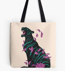 Black tiger Tote Bag