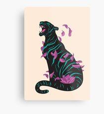 Black tiger Metal Print