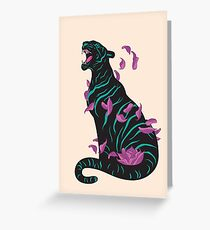Black tiger Greeting Card