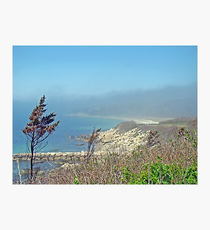 Misty View From Nobska Point - Woods Hole MA Photographic Print