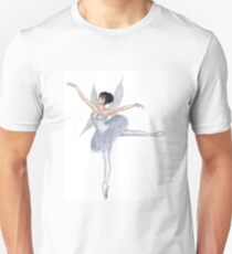 Snowflake Fairy Ballerina in Arabesque Pose Unisex T-Shirt