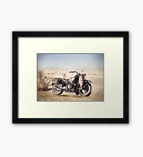 Military Motorcycle Framed Print