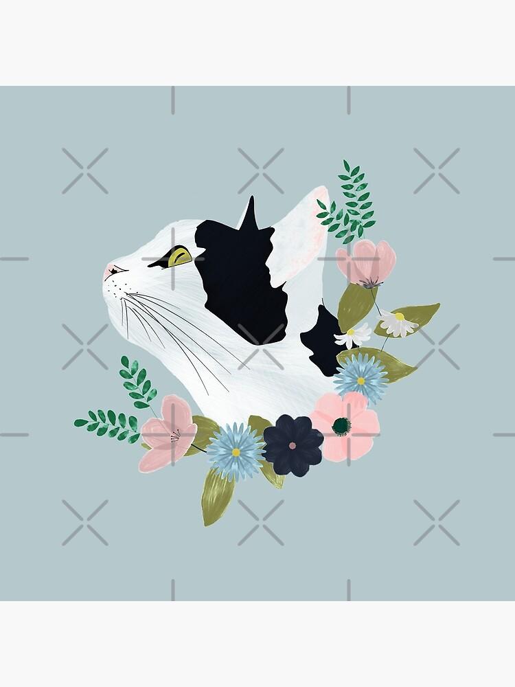 Floral Cat by kmg-design