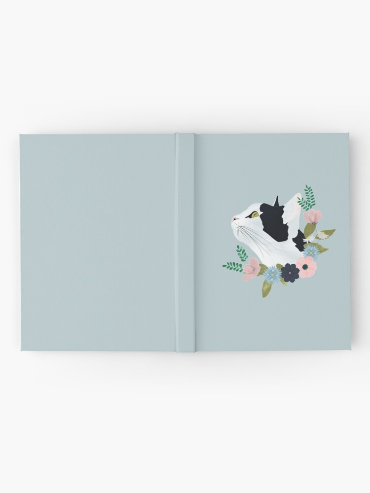 Alternate view of Floral Cat Hardcover Journal