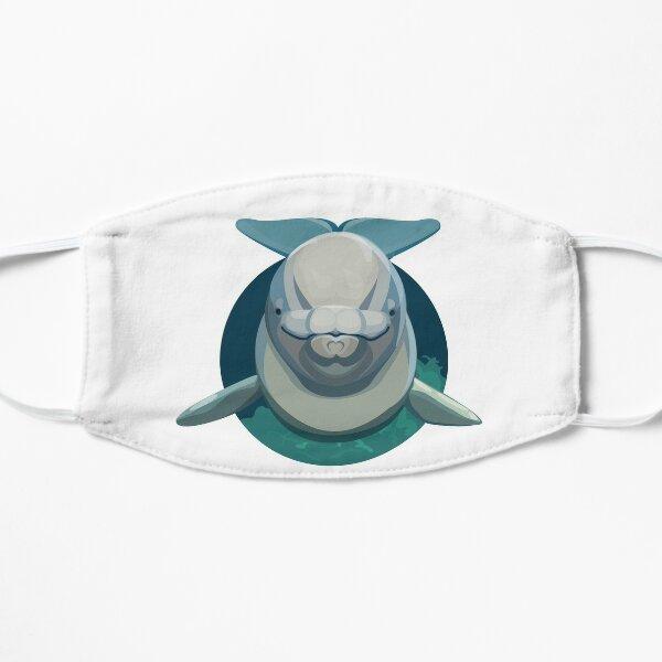 Beluga Whale Round Flat Mask