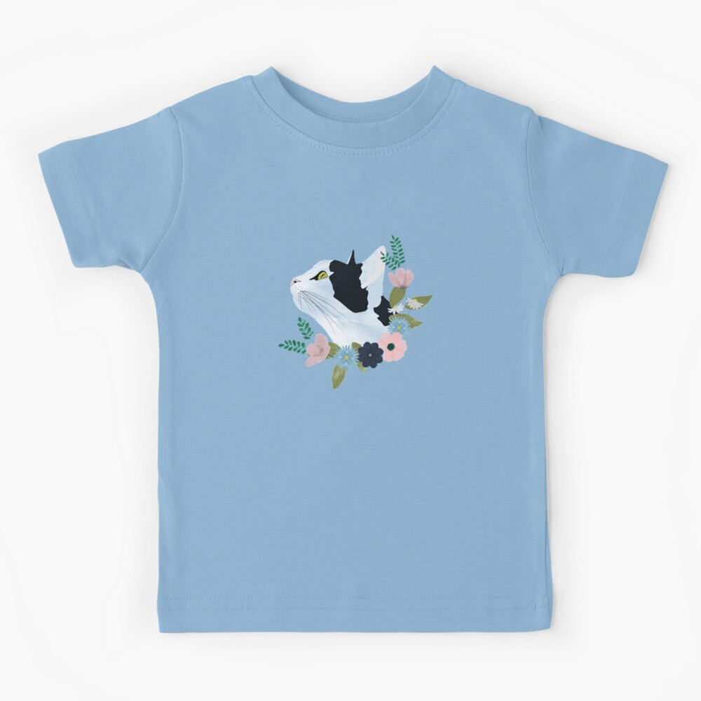 Floral Cat Kids T-Shirt