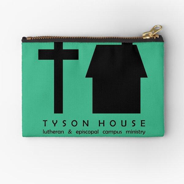 Tyson House Logo - Black Zipper Pouch