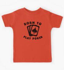 Born To Play Poker Kids Tee