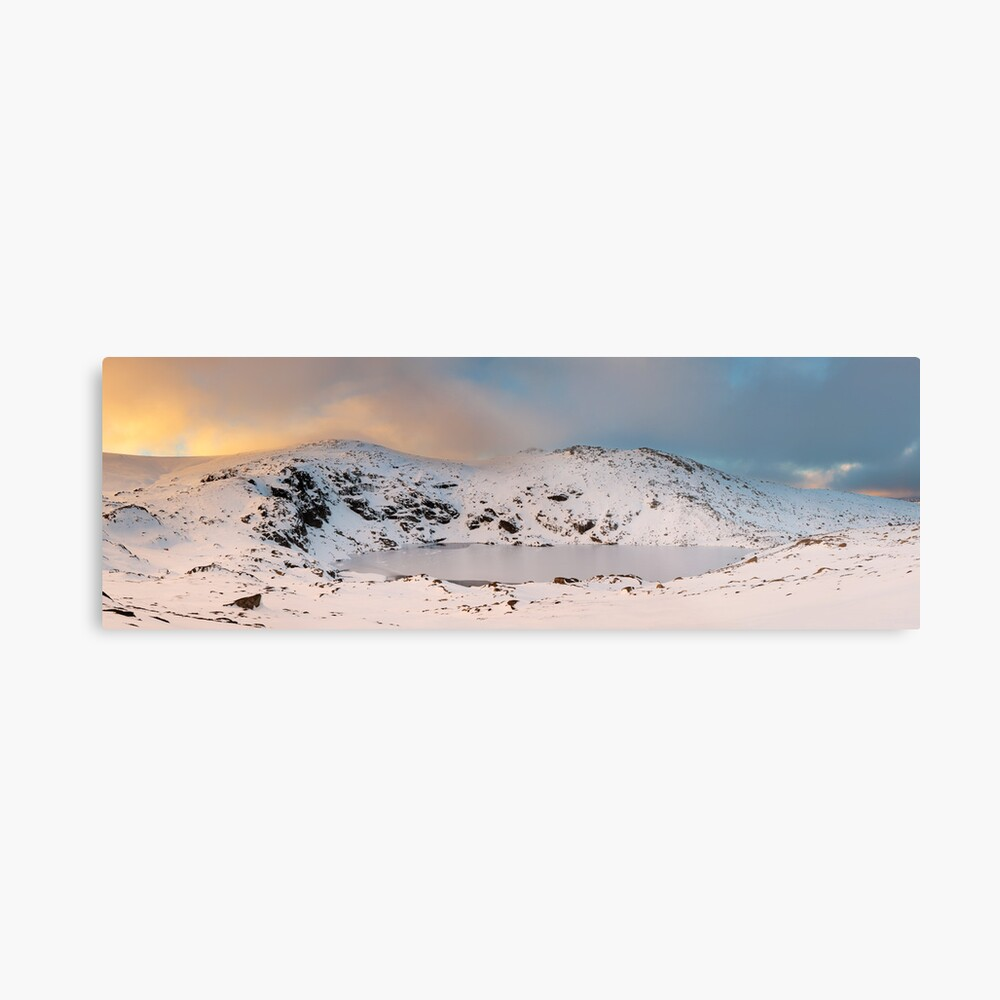 Winter finds Blue Lake, Kosciuszko National Park, NSW, Australia Metal Print
