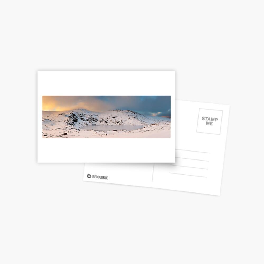 Winter finds Blue Lake, Kosciuszko National Park, NSW, Australia Postcard