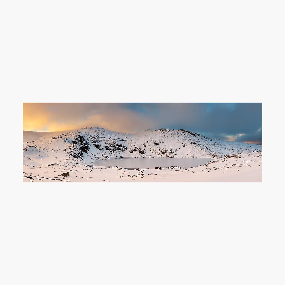 Winter finds Blue Lake, Kosciuszko National Park, NSW, Australia Photographic Print