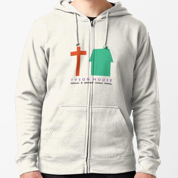 Tyson House logo - color Zipped Hoodie