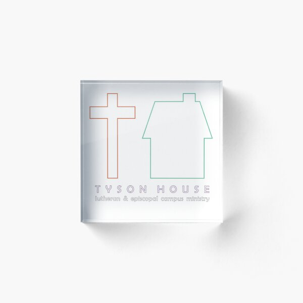 Tyson House logo - outlines Acrylic Block