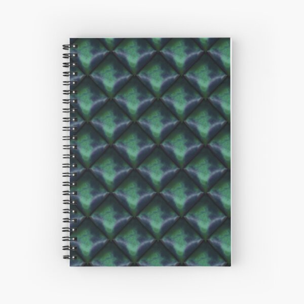 Dark Mermaid Shimmer Spiral Notebook
