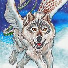 Winged Wolf by cs3ink