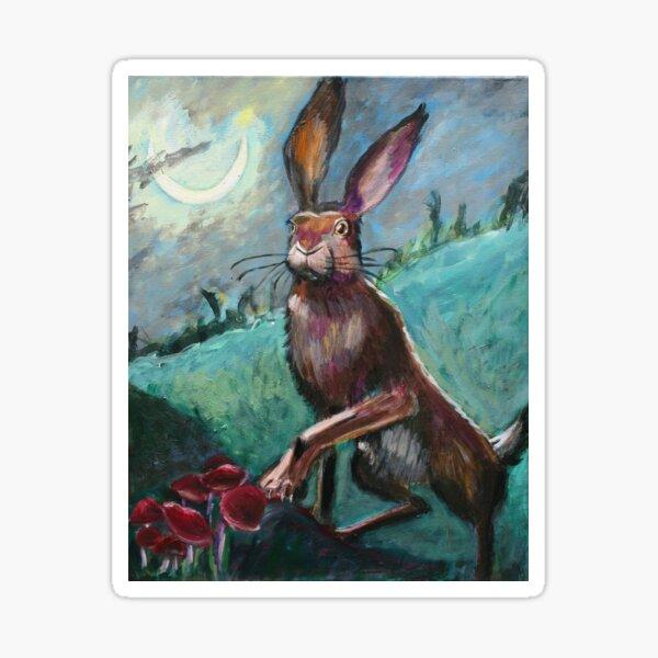 Rabbit Under the Moon Sticker