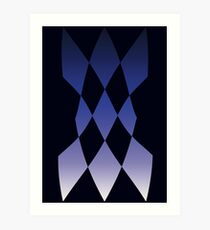 The Magnificent Flying Blue Diamonds Art Print