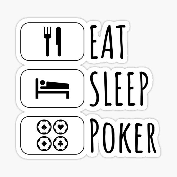 Eat Sleep poker, gift for poker player, poker lovers gift Sticker