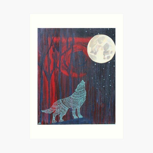 Wolf Moon Art Print