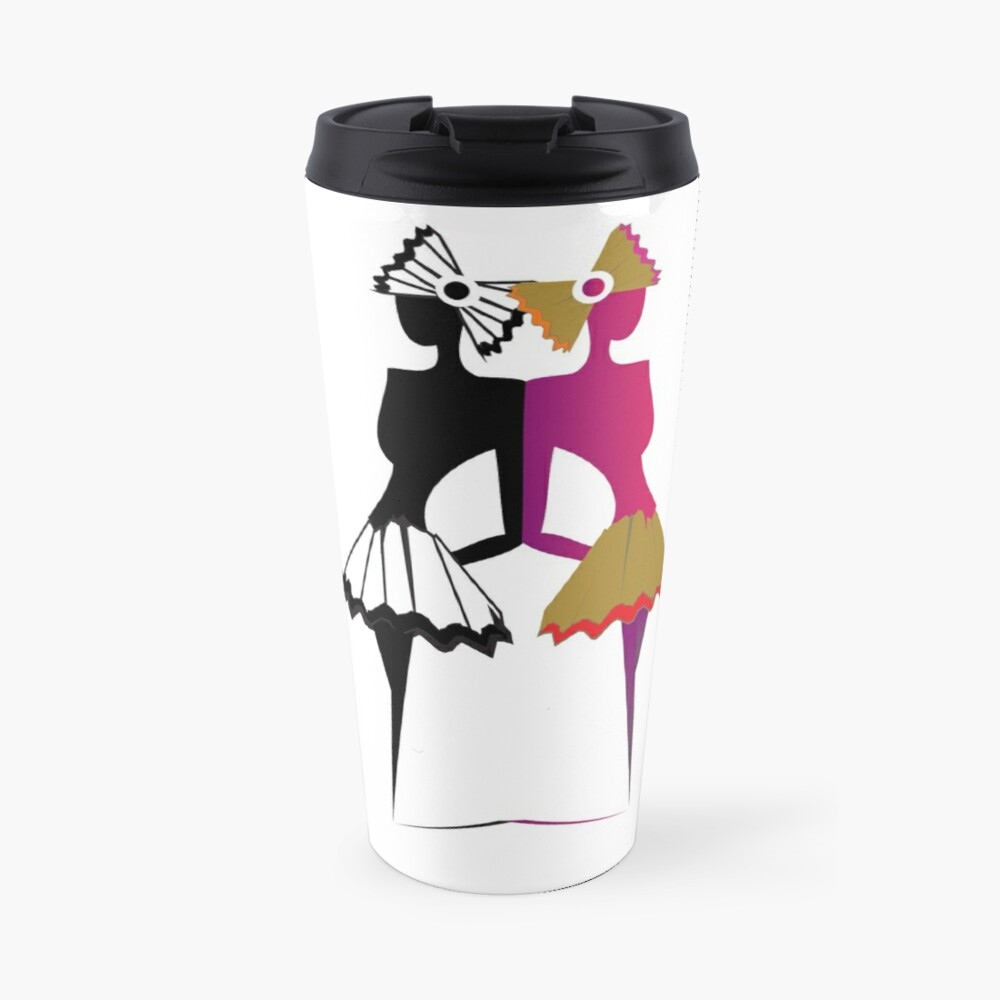 The Twin Ballerinas  Travel Mug
