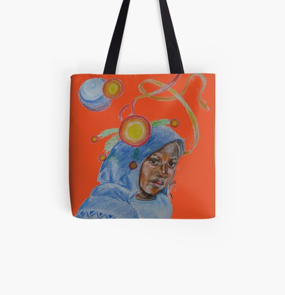 Curious girl 2 All Over Print Tote Bag