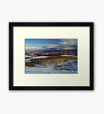 Trees, Mountains and Sky Framed Print
