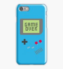 Game Over - Teal iPhone Case/Skin