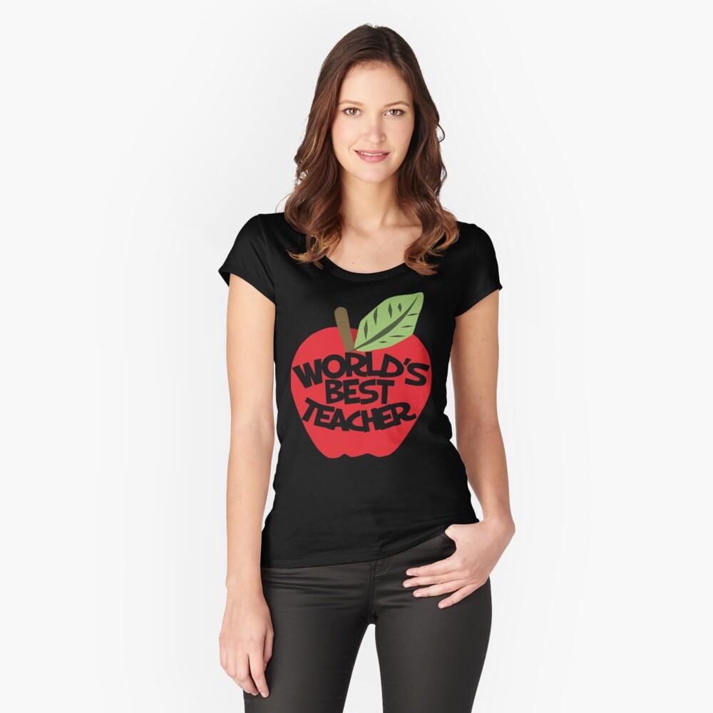 World's Best teacher Women's Fitted Scoop T-Shirt Front