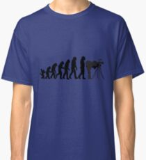Male Photographer Evolution Tee Shirt Classic T-Shirt