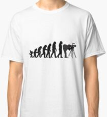 Male Photographer Evolution Tee Shirt Classic T-Shirt