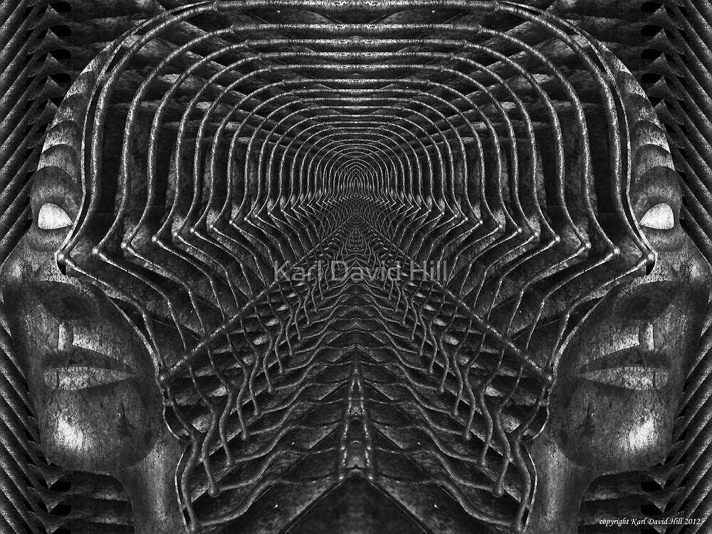 infinite regression of the subconscious mind 001 by Karl David Hill