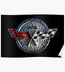 25th Anniversary Corvette Emblem Poster