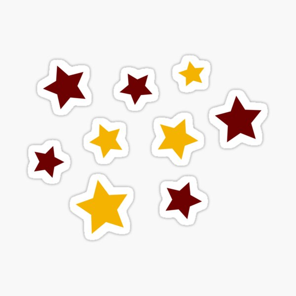 Maroon and Gold Stars Sticker