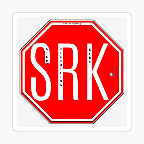 Stop Recruiting Kids Logo Sticker