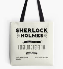Sherlock Holmes' Business Card Tote Bag