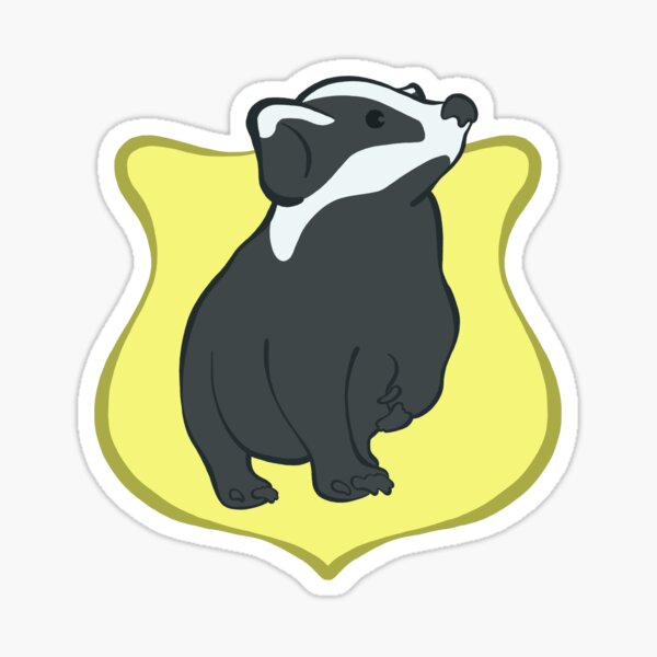 Cute Badger House Crest Sticker
