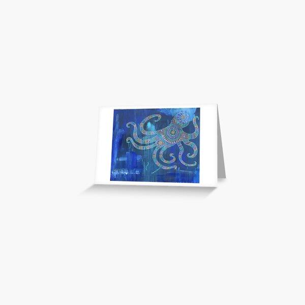 Octopus Mandala Greeting Card