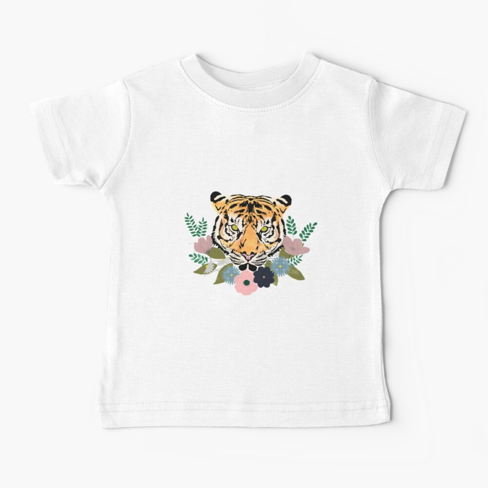 Floral Tiger Baby T-Shirt