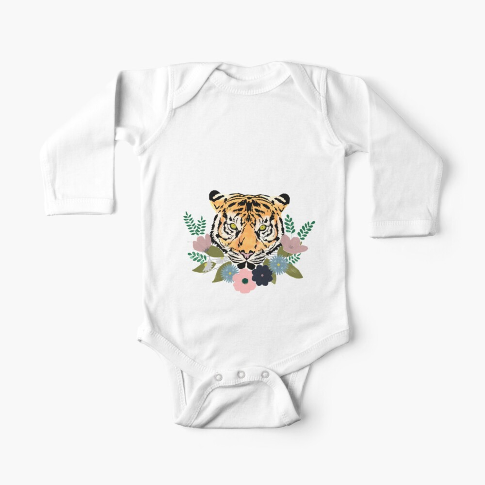 Floral Tiger Baby One-Piece