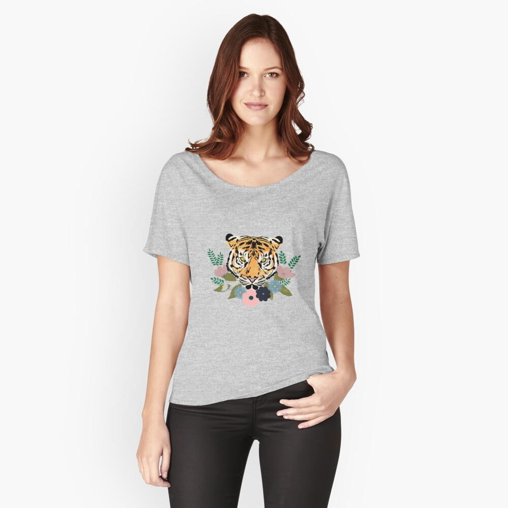 Floral Tiger Relaxed Fit T-Shirt