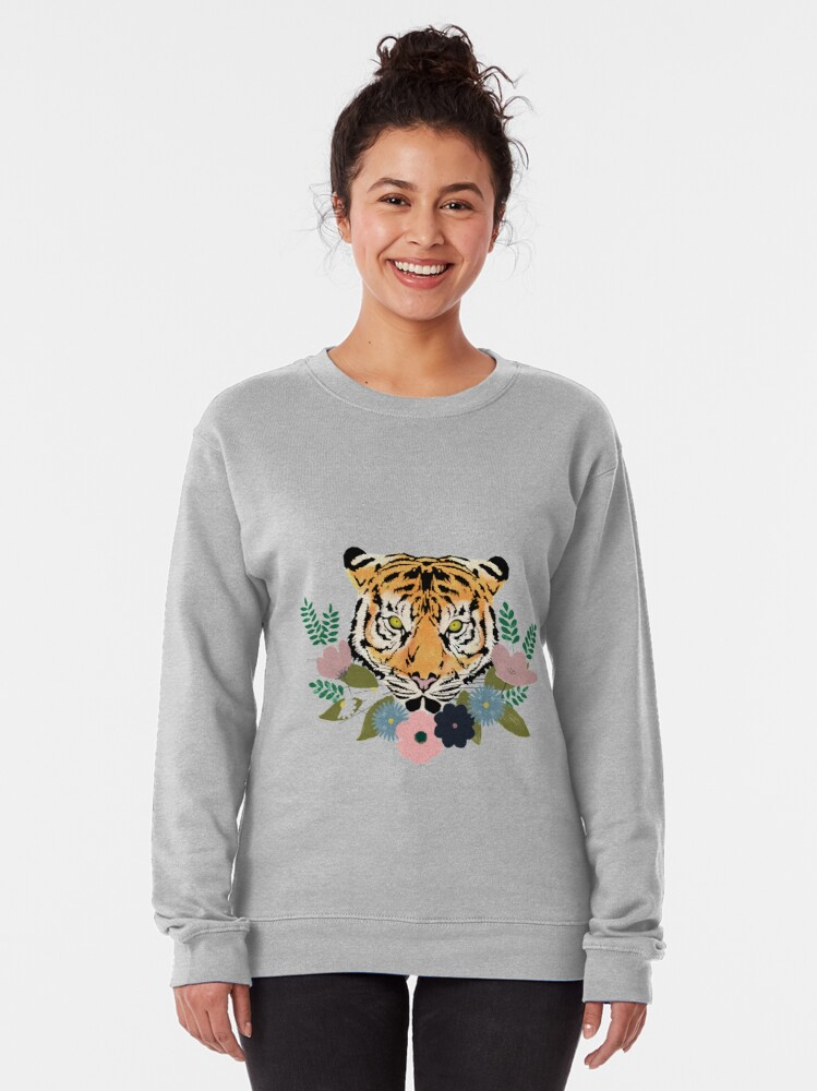 Alternate view of Floral Tiger Pullover Sweatshirt