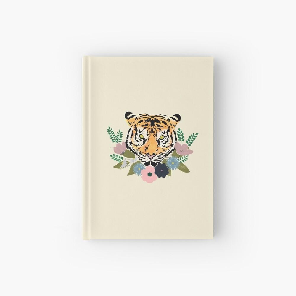 Floral Tiger Hardcover Journal