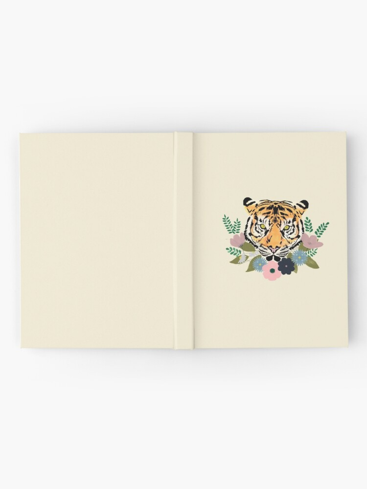 Alternate view of Floral Tiger Hardcover Journal