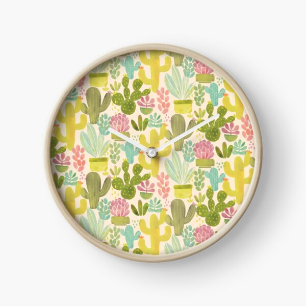 Painted Succulents Clock