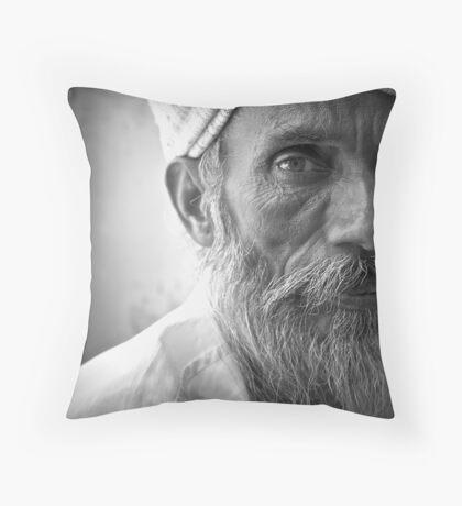 an indian portrait Throw Pillow
